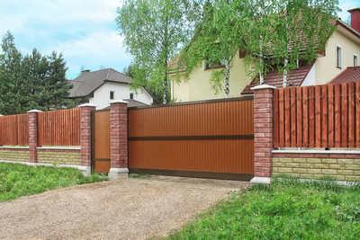 Виды гаражных ворот. Откатные ворота.