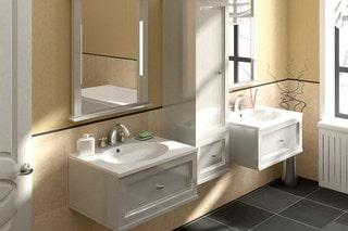 Мебель для ванной комнаты – выбор материала