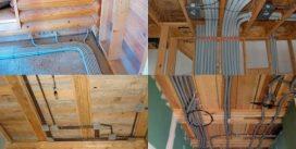 Прокладка коммуникаций в деревянном доме